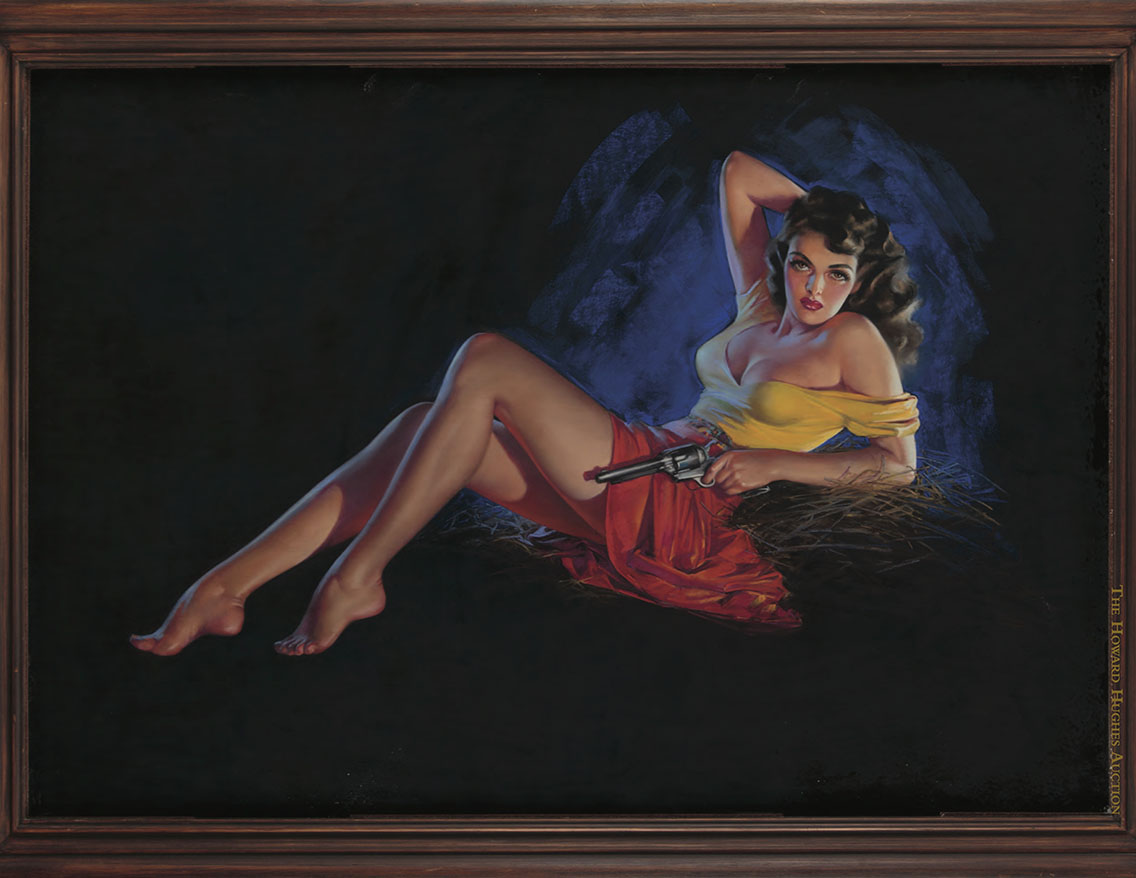 Zoe Mozert painting of Jane Russell
