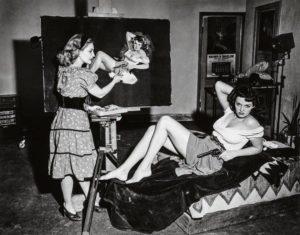 Zoe Mozert paints Jane Russell